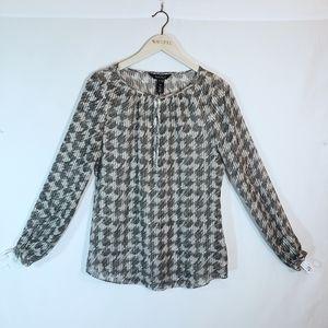 White House Black Market Sheer Silk Shirt
